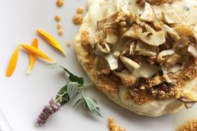 polenta socchievina con funghi porcini